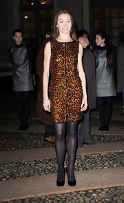 Eleonora Abbagnato arrived at an event hosted by 'Vogue Italia' wearing a hot animal print dress.