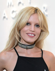 Georgia May Jagger amped up the edge factor with a studded leather choker.