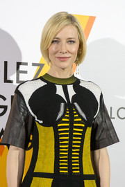 Cate Blanchett wore her hair in a simple, classic bob at the Louis Vuitton 'Volez, Voguez, Voyagez' exhibition.