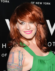 Ana Matronic worked bright lolly-pink lips at the W LOVE Hangover Ball in NYC.