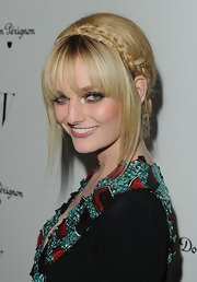 Lydia Hearst wore her tresses in a polished updo with a headband of braided hair at the 'W' Magazine Golden Globes Celebration.