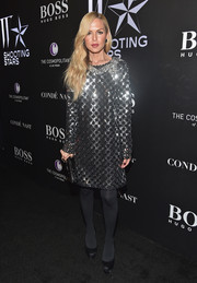 Rachel Zoe went all out with the sparkle in a Marc Jacobs sequined shift dress during the W Magazine Shooting Stars exhibit opening.