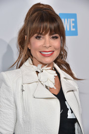 Paula Abdul worked a retro ponytail during WE Day California.