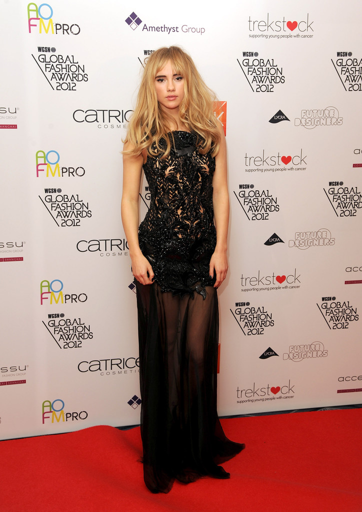 Suki Waterhouse during the WGSN Global Fashion Awards at The Savoy Hotel on November 5, 2012 in London, England.