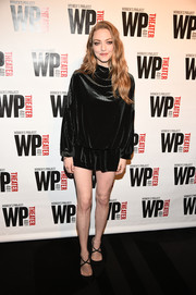 Amanda Seyfried was all legs in this super-short LBD at WP Theater's 40th anniversary gala.