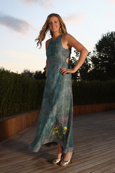 Petra's painterly beaded dress at the WTA Championships in Istanbul was a piece of art.