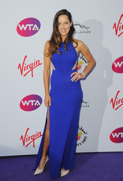 Ana Ivanovic went the modern route in an electric-blue cutout gown by Stella McCartney during the WTA pre-Wimbledon party.
