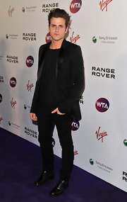 At the pre-Wimbledon party, Jared Followill showed us how to wear a tuxedo the rock star way.