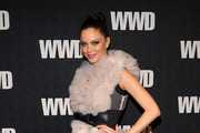 Georgina Chapman Wears a Fabulous Marchesa Cocktail Dress