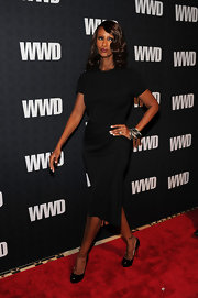 Iman rocked a pair of Brian Atwood Maniac pumps in black on the red carpet. She paired the sophisticated shoes with a black sheath dress.