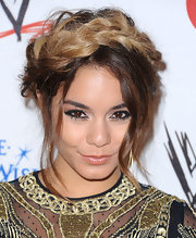 Vanessa Hudgens showed off her cool dip-dyed locks with this slightly messy but really cool braided 'do.