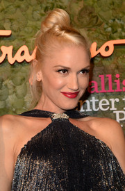 Gwen Stefani topped off her look with a perky top knot when she attended the Wallis Annenberg Center Inaugural Gala.