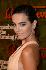 Camilla Belle sported the wet hair look with this slicked-back 'do at the Wallis Annenberg Center Inaugural Gala.