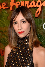 Gia Coppola kept it simple with this shoulder-length 'do with center-parted bangs when she attended the Wallis Annenberg Center Inaugural Gala.