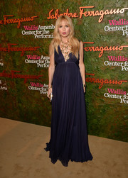 This ultra-elegant empire-waist navy Ferragamo gown was just perfect for Rachel Zoe's growing baby bump.