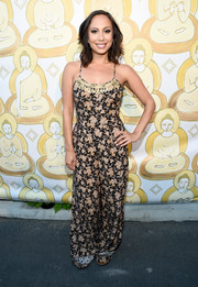 Cheryl Burke attended the Wanderlust Hollywood grand opening looking breezy in a spaghetti-strap jumpsuit.