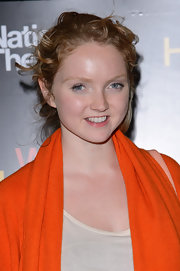 Lily Cole swept her curls up in a casual yet cute 'do for the 'War Horse' 5th anniversary performance.