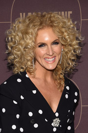 Kimberly Schlapman attended the Warner Music Group pre-Grammy celebration wearing her trademark curls.