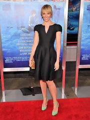 Toni Collette wore a fit and flare LBD at 'The Way, Way Back' premiere in NYC.