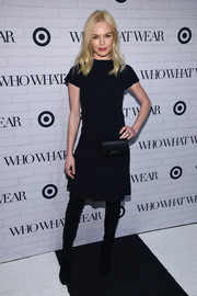Kate Bosworth kept it low-key with this short-sleeve LBD by Target x Who What Wear during the collaboration's launch.