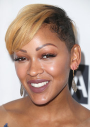 Meagan Good looked punky with her half-shaved 'do at the Wearable Art Gala.
