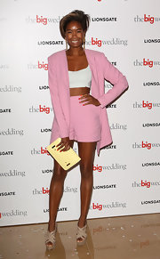 Tallulah Adeyemi channeled the '80s with this pastel pink short suit!