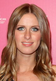 Nicky Hilton added a dash of shimmer to her look with a swipe of silver shadow.