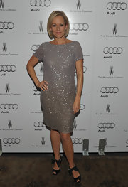Penelope Ann Miller glittered in a sequined basic cocktail dress for the Audi celebration.