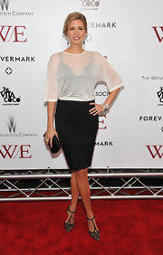 Ivanka Trump offset her sexy LBD with a sheer white crop top at the 'W.E.' screening.