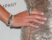 Nicky Hilton paired her sparkling ring with two 18-karat white gold spike bracelets.