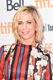 Kristen Wiig wore her hair in a slightly messy bob at the TIFF premiere of 'Welcome to Me.'