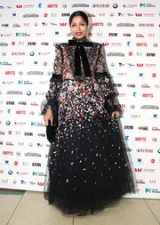 Freida Pinto dolled up in an intricately embroidered tulle gown by Elie Saab for the Westpac IFFM Awards Night 2018.