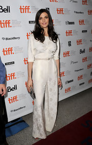 Rachel Weisz sported a funky, '70s-inspired satin jumpsuit at the 2010 Toronto Film Festival.