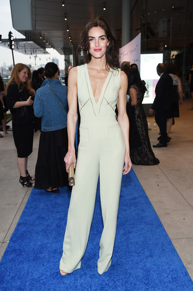 More Pics of Hilary Rhoda Jumpsuit (5 of 8) - Suits Lookbook - StyleBistro [clothing,red carpet,carpet,fashion model,dress,fashion,flooring,premiere,shoulder,haute couture,whitney museum celebrates annual spring gala,hilary rhoda,whitney museum,new york city,studio party,spring gala]
