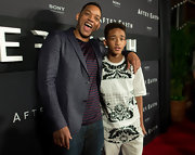 Jaden Smith kept it casual in a black-and-white print T-shirt while promoting 'After Earth' in Cancun.