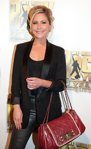 Heidi Range was oh-so-stylish wearing a satin-collared blazer at the anniversary party of 'We Will Rock You.'