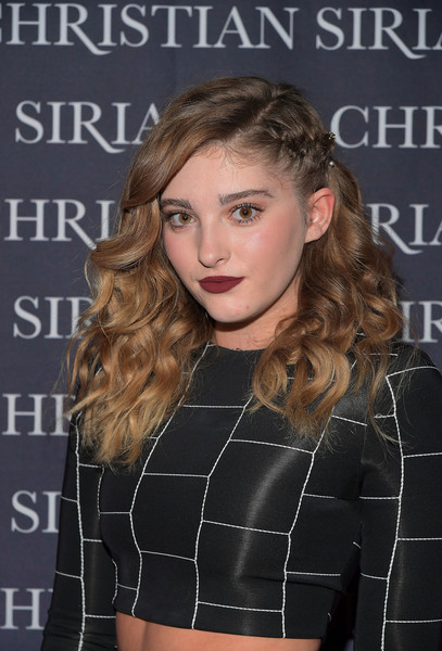 Willow Shields Long Partially Braided [dresses to dream about,book,book,hair,hairstyle,blond,eyebrow,beauty,lip,long hair,fashion,brown hair,premiere,christian siriano,willow shields,los angeles,chateau marmont,christian siriano celebrates the launch of his,celebration,launch]