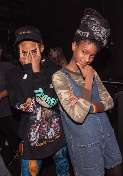 Willow Smith Romper [galore presents girlcult,jaden smith,willow smith,beanie,cool,fashion,headgear,event,knit cap,rapper,cap,performance,dreadlocks,the fonda theatre,los angeles,california]