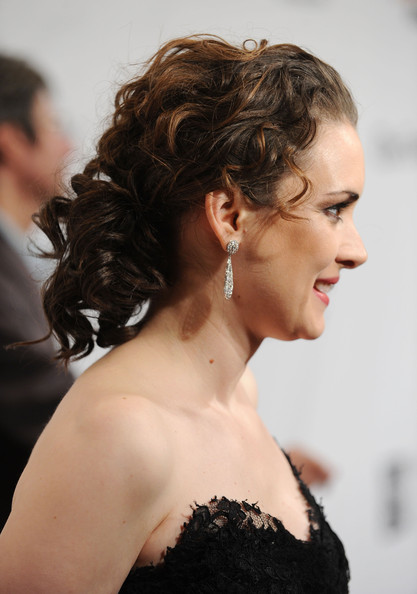 Winona Ryder Pinned Up Ringlets [hair,shoulder,hairstyle,chin,beauty,skin,joint,dress,long hair,neck,winona ryder,new york city,wall street,ifp,cipriani,gotham independent film awards - arrivals,20th annual gotham independent film awards]