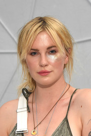 Ireland Baldwin attended Winter Bumbleland sporting a disheveled updo.
