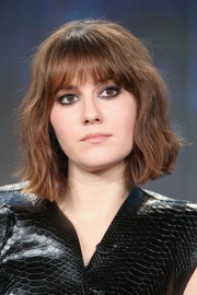 Mary Elizabeth Winstead looked edgy with her short waves and kohl-rimmed eyes at the 2015 Winter TCA Tour.