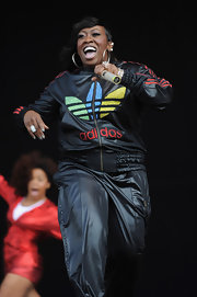 Missy Elliot preformed at the Wireless Festival in a custom made track jacket.