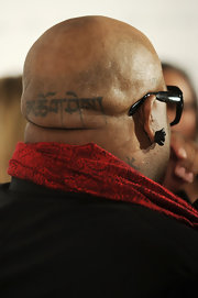 Cee-Lo Green is no stranger to tattoo's. He showed off his artistic design tattoo on the back of his head.