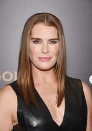 Brooke Shields showed off a perfectly sleek hairstyle at the 'Woman in Gold' premiere.