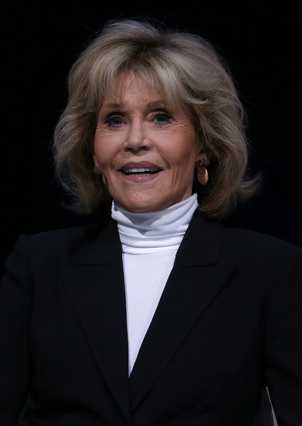 Jane Fonda attended the Conference of the Professional Businesswomen of California wearing this perfectly styled bob.