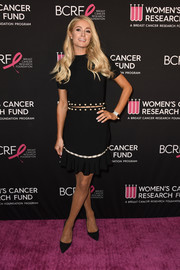 Paris Hilton looked cute in a black cutout dress by Alice + Olivia at the Unforgettable Evening gala.