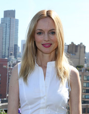 Heather Graham wore her hair straight with a center part during the Women's Film Brunch.