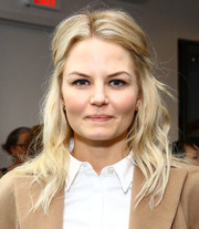 Jennifer Morrison sported a messy-chic half-up hairstyle at the Women's Filmmaker Brunch.
