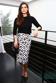 Lake Bell kept it simple and relaxed in a black crewneck sweater during the Women's Filmmaker Brunch.