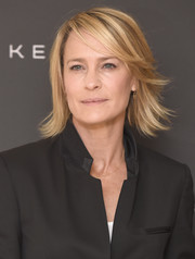 Robin Wright went for a flippy razor cut at the Women in Motion event.